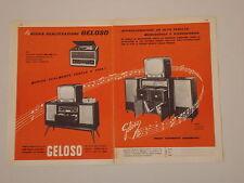 advertising Pubblicità 1959 GELOSO