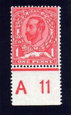 GB 1911 1d 'SMALL WHITE SPOT ON FOREHEAD' N8f L/MINT.