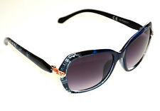 OCCHIALI da SOLE donna BLU ORO serpente lenti ovali sunglasses lunettes E60