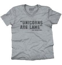 Unicorn Lame Said Nobody Ever Funny Shirt | Magical Hipster V-Neck T Shirt