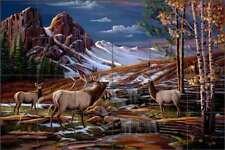 Elk Tile Backsplash Kendrick Ceramic Wildlife Animals Lodge Art POV-LKA001
