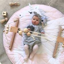 Round Baby Play mat Nursery Rug Crawling Mat Floor Mats Unicorn Playmat