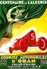 Art Poster - French - Automobile Race Car 1930 Deco  A3 Print