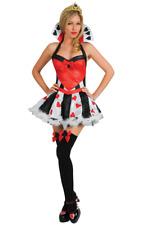 Womens Queen of Hearts Film & TV Alice In Wonderland Fancy Dress Costume