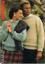 Man & Woman's warm winter sweaters knitting pattern in DK. Also as a PDF.