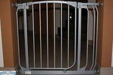Türschutzgitter / Treppenschutzgitter aus Metall 72,5 - 137,5 cm Autoclose grau