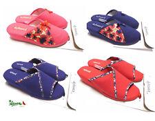 DEFONSECA ciabatte pantofole donna tessuto zeppa tacco aperte chiuse Blu Rosso