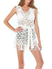 Somedays Lovin' Free Love Crochet Mini Dress | White Beach Coverup Tunic