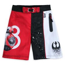 Disney Store Star Wars Last Jedi Swim Trunks 50+ UV Protection Boys Size 5/6 NWT