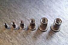 Auswahl Stahl Flachkopf Blindnietmutter M3 M4 M5 M6 M8 M10 M12 - 0,5 Nietmutter