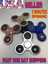 Tri Spinner Fidget Aluminium,Finger Spin Stress Hand Desk Toy Edc Adhd Autis,Lot