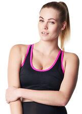 NEW - Noppies - Robijn Active Sports Bra in Black/Pink - Maternity Sports Bra