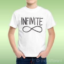 camiseta Niño niño Símbolo Infinity Negro Infinite Idea De Regalo
