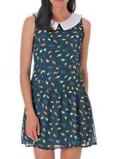 #SundayMarket Party Casual Beach Turtle print Cool Green Dress BNWT 10 12 14