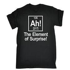 AH ELEMENT OF SURPRISE T-SHIRT tee geek nerd joke funny birthday gift present