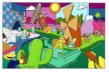 (10497) Simpsons Carte postale - peu de terres de Duff