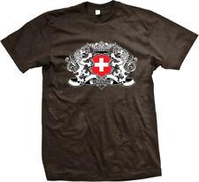 Switzerland Lions Symbol Flag Colors Swiss Team Born From CHE CH Men's T-Shirt