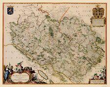 Old France Map - Burgundy Region - Blaeu 1662 - 23 x 29.20