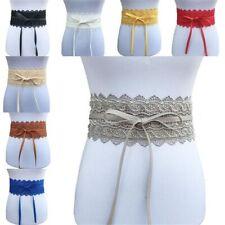 Commerbund Wide Lace Waistband Bow Elastic Cinch Wide Corset Women Waist Belt