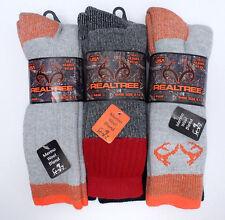 REALTREE Men's Merino Wool Blend Socks *Orange/Black/Ass't *2 Pair *Shoe Sz 9-13