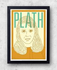 Sylvia Plath Plath Impresión! cartel, la campana para horticultura, Ariel, Ted Hughes, Poesía,