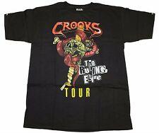 CROOKS & CASTLE MEN'S KNIT CREW T-SHIRT - WORLD TOUR
