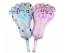 Folienballon Baby Mädchen oder Junge Heliumballon Fuß 35x 20 cm