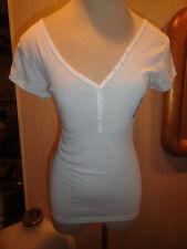 Ladies Old Navy Perfect Henley Bright White Short SleeveT-Shirt Sizes XS - 2XL