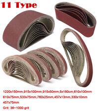 36~1000G Sanding Belt For Metal Wood Grinding Abrasive Belts Polish Various Size