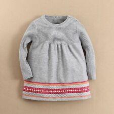 Baby Girls Premium Fashion Soft Warm Cotton Knitted Birthday Cute Dress SALE