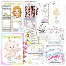 UNISEX BABY SHOWER GAMES - Active,Quiz,Predictions,Bingo,Charades,Scratchcards
