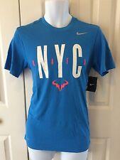 Nike Mens Rafel Nadal NYC Tennis Shirt Blue