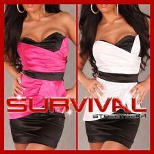 NEW MINI STRAPLESS DRESS SEXY SIZE 6 8 10 12 COCKTAIL CLUB PARTY BLACK & WHITE