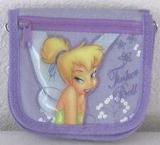 """Purple 4.5X5"""" Tinkerbell Disney Clutch Girl Wallet Purse w 8 Pockets"""