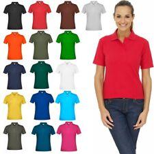 Ladies Women Polo Shirt Short Sleeve Women Plain Pique Classic Top T Shirt Lot