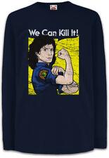 Ripley We Can Kill It Kinder Langarm T-Shirt Prometheus Nostromo Face Hugger
