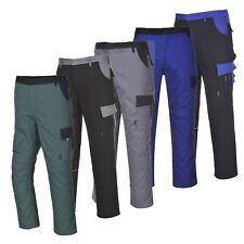 Portwest Texo Durable Work Trousers Knee Pad Pockets Half Elastic Waist TX36