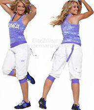 ZUMBA 2 Pc.SET! Cargo Capri Pants + Racerback Tank Top DANCE FITNESS! L, XL, XXL