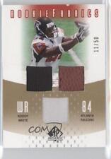 2005 SP Authentic Rookie Fabrics Gold #RF-RW Roddy White Atlanta Falcons Card