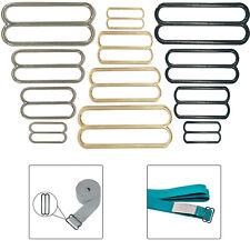 3 Bar Slider Tri Glide Metal Buckles Belt Adjuster for Strap Webbing DIY Crafts