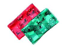 Raya de satén de Navidad Bufanda Hermosa Nueva Colección por kongle