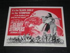 Original 1968 GLORY STOMPERS Rare 22x28 1/2 sheet DENNIS HOPPER Jock Mahoney