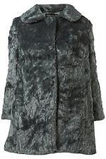 New TOPSHOP faux fur textured coat UK 6 in Sea Green