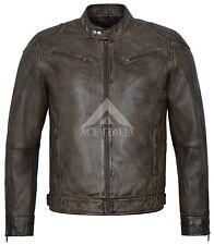 Mens LEATHER JACKET Distressed Vintage Biker Motorcycle Tops Letaher Jacket 1469