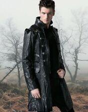 Steampunk Gothic Mantel Jacke Gehrock Spikes Faux-Leder, Punk Rave M L XL XXL