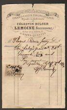 """SAINT-QUENTIN (02) HORLOGERIE """"DILGER -LEMOINE"""" en 1886"""