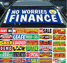 Windshield Slogan Banner Ad Loaded Rebate Warranty Test Drive Venta U Pick EZ295