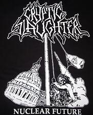 Cryptic Slaughter - Nuclear Future shirt / New S, M, L , XL (Black) Thrash Punk