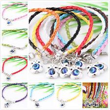 Wholesale 10Pcs 10Color 1Mixed Twist Leather Cord Rope Bracelets Bangle Fashion