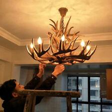 Industrial Loft Faux Resin Deer Antler Horn with Candle Light Pendant Chandelier
